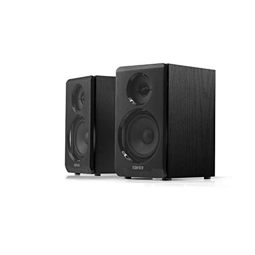 Edifier R33BT Aktive Bluetooth-Computerlautsprecher - 2.0-Regallautsprecher - Powered Studio Monitor, Schwarz - Paar