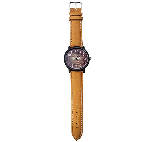 PiniceCore Moda Mujeres del Reloj del Reloj De Señoras De Los Relojes del Cuarzo por Horas Mujer del Reloj Femenino del Dial Grande De PU