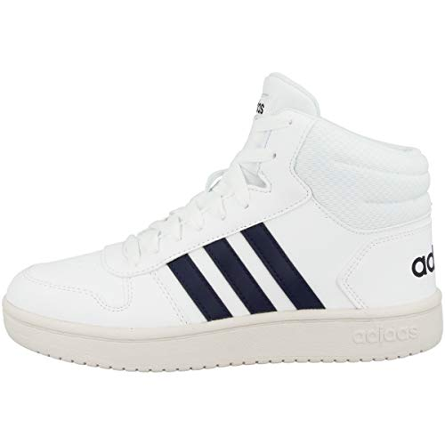 adidas Hoops MID 2.0 K Basketballschuh, FTWR White Legend Ink Cloud White, 40 EU