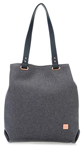 TITAN Einkaufstasche Handgepäck mit wasserabweisender Oberfläche, Gepäck Serie BARBARA: Exklusiver Shopper im eleganten Look, 383703-04, 36 cm, 12 Liter, grey (grau)
