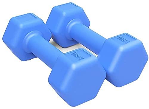 Dumbbells Peso a mano Set di 2 esercizi rivestiti e amplificatore idoneo Dumbbell Dumbbell in gomma Dumbbell Heavy Set pesante per allenamento muscola...