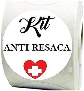 100 Etiquetas Blancas Kit Anti resaca para tu celebración,