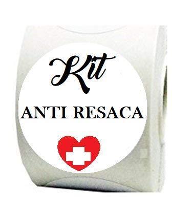 100 Etiquetas Blancas Kit Anti resaca para tu celebración, boda