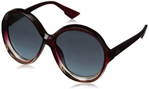 Dior DIORBIANCA I7 0T5 Gafas de sol, Rojo (Burgundy Pink/Grey Grey), 58 para Mujer