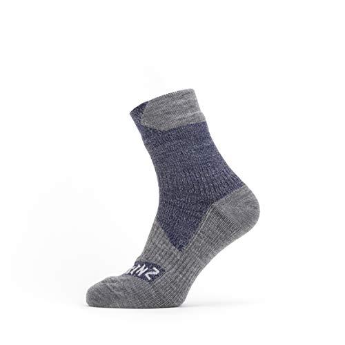 SealSkin Unisex Socken All Weather Ankle Socken, navy/grau, L, 2019088343