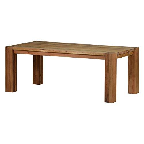 MÖBEL IDEAL Esszimmertisch Esstisch Küchentisch Braxton, 220x100 cm, Massivholz Holz Eiche massiv Natur geölt