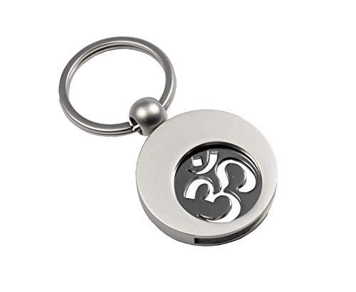 Hochwertiger Schlüsselanhänger mit Einkaufswagenchip (Yoga OM)