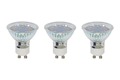 Briloner Leuchten 0520-003 A+, LED Lampe, 3-er Set, 3 W, 250 Lumen, GU10, silber, 5 x 5 x 5,8 cm