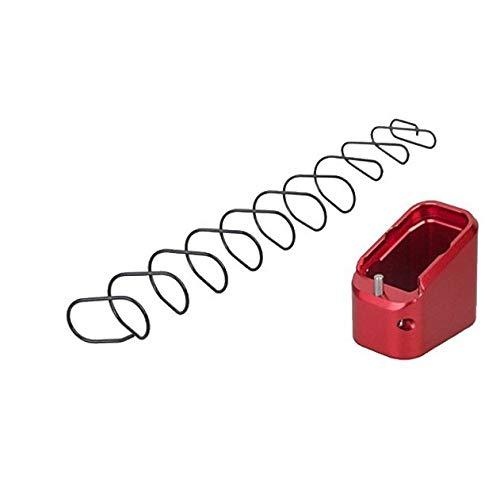 color tree Aluminiumlegierung Glock Magazin Basispolster mit Feder für IPSC USPSA IDPA Glock G17 G22 G34 G35 Rot