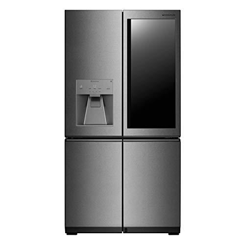 LG LSR100 Kühlschrank/Side-by-Side, freistehend, Edelstahl, 569 l, A++ - Side-by-Side Kühlschrank (freistehend, Edelstahl, amerikanische Tür, LED, Sidy-by-Side, LCD)