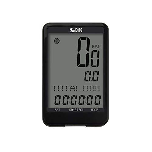 KELITE Fahrrad-Entfernungsmesser, Wireless Speedometer, wasserdichte Multifunktionsfahrradcomputer for Tracking-Entfernung, Geschwindigkeit, Zeit
