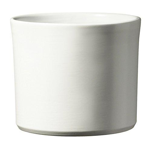Soendgen Keramik Miami- Vaso per fiori in ceramica, Bianco, 24 x 24 x 21 cm