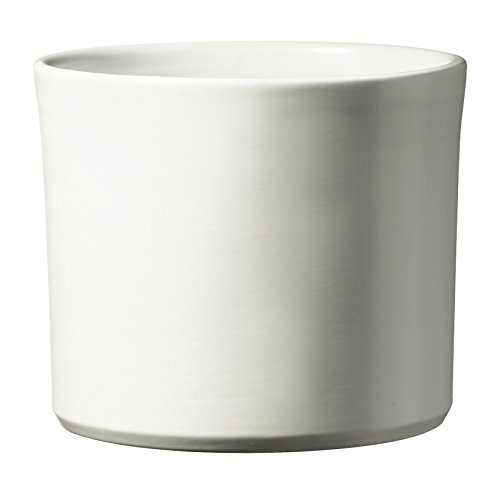 soendgen–Vaso per fiori in ceramica, Miami, bianco, 24 x 24 x 21 cm