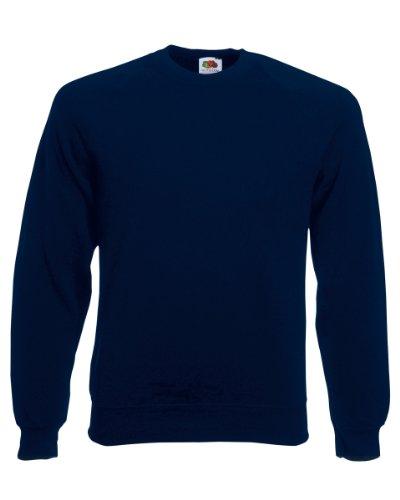 Fruit of the Loom Raglan Sweatshirt Maglia di Tuta, Blu (Deep Navy 000), XXL Uomo