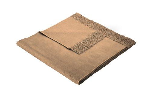 Biederlack Sesselschoner, 60 % Baumwolle, Mit Fransen, 50 x 200 cm, Braun, Cotton Cover Camel, 503930