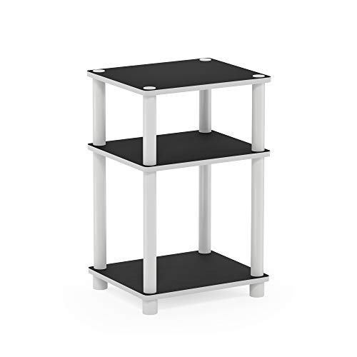FURINNO Just 3-Tier End Table, 1-Pack, White/White,11087WH(EX)/WH