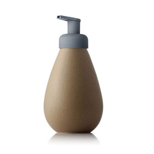 PIAOLING 700ml Savon en céramique Dispensers moussants Mousse Lotion Dispensers Pressé sur Shampooing Gel Douche Savon Dispensers (Color : Beige, Taille : 700ml)