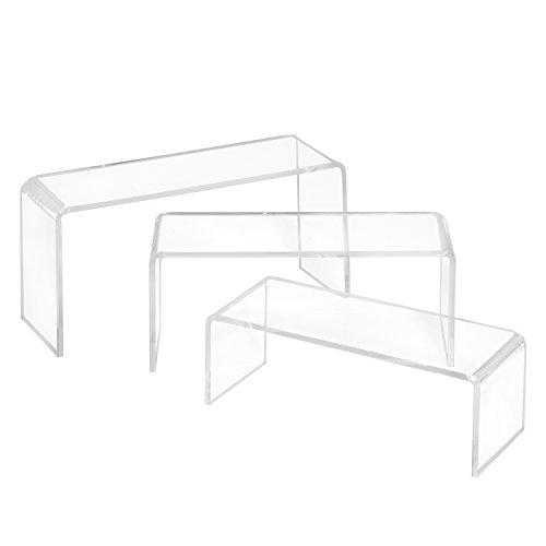 3er Set Dekobrücken aus Acrylglas/Dekopodest / U-Ständer/U-Aufsteller/Dekowinkel / Acryl/transparent