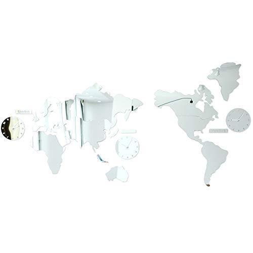 DW007 Reloj De Pared Acrílico 3D con Números Adhesivos DIY Mapa del...