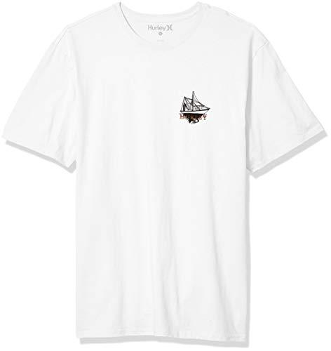 Hurley M Cre Bluefin SS Maglietta, Bianco, S Uomo