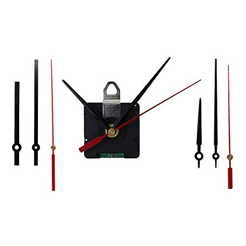 Bonarty Sprungsekunde Funkuhrwerk, 14mm Wellenlänge Funkuhr Mit Elektrischer Steuerung Quarz Wanduhr Uhrwerk Antriebe