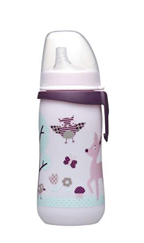 nip First Cup mit Soft-Trinkschnabel Silikon, 12 Monate+, 330 ml, Girl