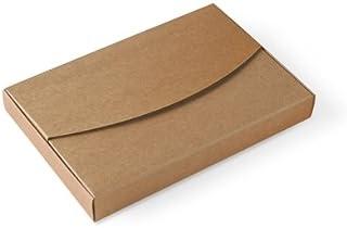 Selfpackaging Caja para Fotos en cartulina Kraft Bodas, bautizos. Pack de 50 Unidades -