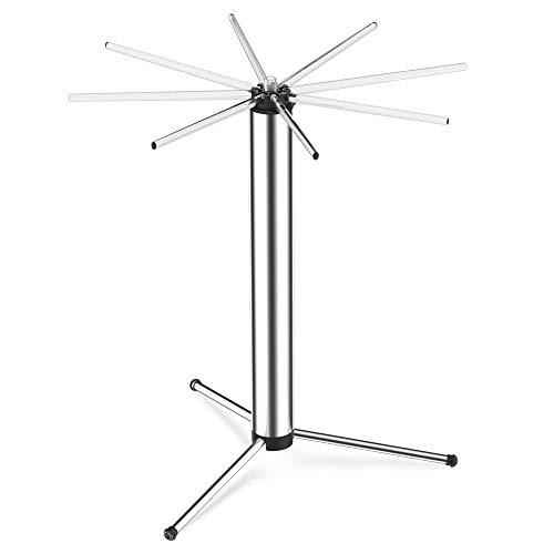 Kitchenendao Nudeltrockner – faltbar für einfache Lagerung – schneller Aufbau – Drehsystem & leicht zu transportieren – rutschfeste Füße – abnehmbar für einfache Reinigung