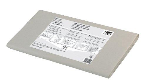 Nips - Papel de seda reciclado para embalar o rellenar paquetes (1,25 kg, 50 x 75 cm, 125 hojas), color gris