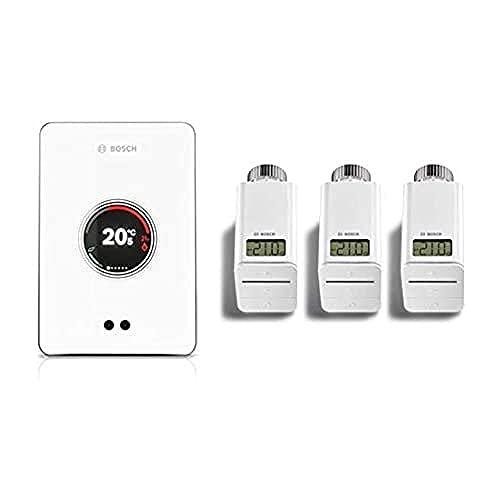 Bosch Junkers CT200 W-LAN - Juego de 3 termostatos...