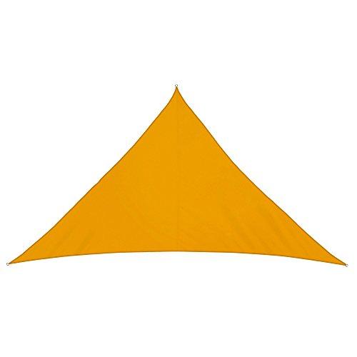 jarolift Sonnensegel Dreieck wasserabweisend, 600 x 420 x 420 cm, gelb
