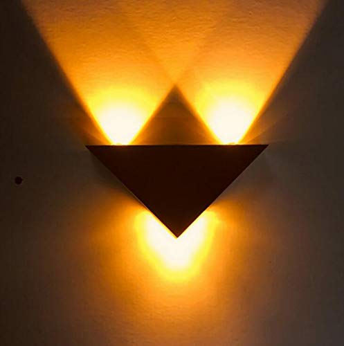 LED kreative Wandleuchte, moderne/zeitgenössische bündige Metallwandlampen-Dekoration-Befestigungen für Hintergrund-Wand-Flur-Partei, 9W, 85-265V,yellow