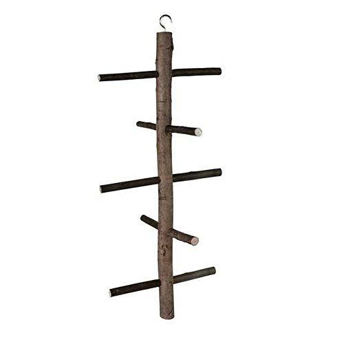EQT-TEC Vogel Stange Sitzstange Klettergerüst aus Holz für Vögel 47 cm Vogelspielzeug