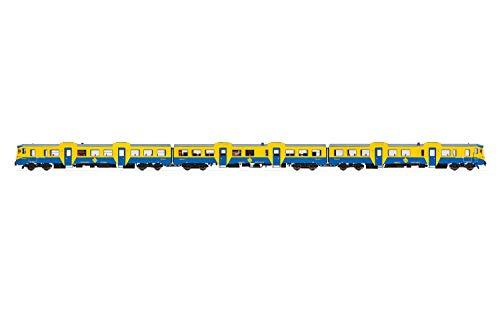 Electrotren E3421 RENFE, 3-Unit DMU Class 592 in Original Blue/Yellow Livery, Period IV-V Locomotive - Diesel