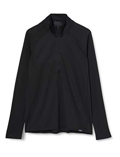 Patagonia M's Cap MW Zip Neck Sweat-Shirt pour Homme L Noir