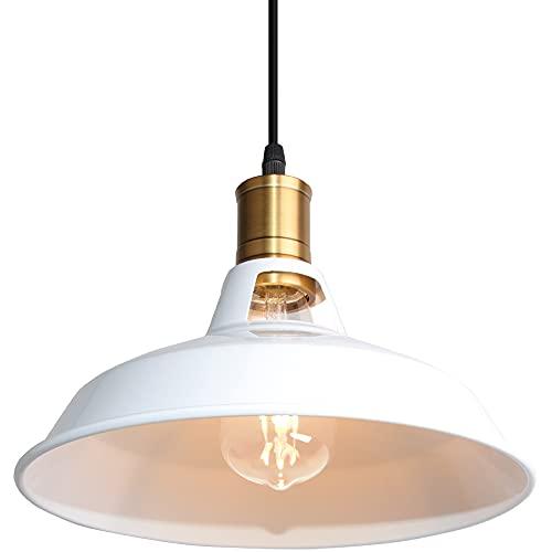 Lámpara Colgante Vintage, TOKIUS Ø27cm Lámpara de Techo Retro de Metal Industrial E27 Lámpara Araña para Comedor Cocina...