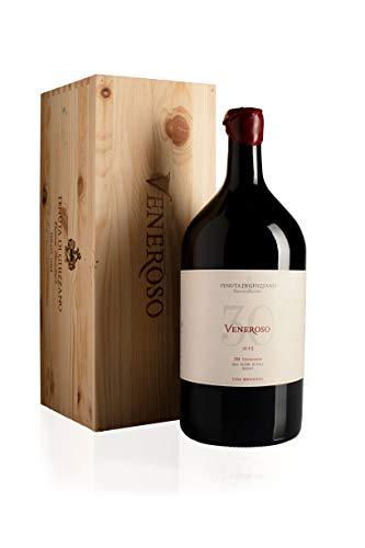 Tenuta di Ghizzano - Veneroso 2015 DOC Tierras de Pisa - Vino Tinto italiano, de Toscana. Fino, Ecológico, Orgánico. Botella doble magnum 3 lt con caja de madera