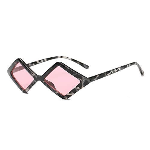 Gafas de sol de moda de ojo de gato con forma de diamante pequeño, Rosa/Rebel Fun.,