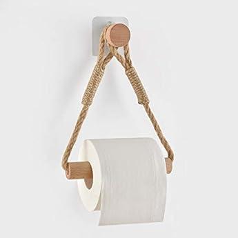 Foto di Bagno Porta carta igienica porta rotolo di carta igienica Portarotolo Carta Igienica Vintage Porta Asciugamani Corda Industriale