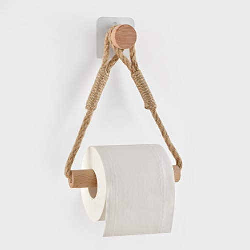 Autoadesivo Bagno Porta carta igienica porta rotolo di carta igienica Portarotolo Carta Igienica Vintage Porta Asciugamani Corda Industriale