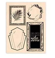 DIYスクラップブッキングフォトアルバム用フランス透明クリアスタンプシール装飾クリアスタンプA1111