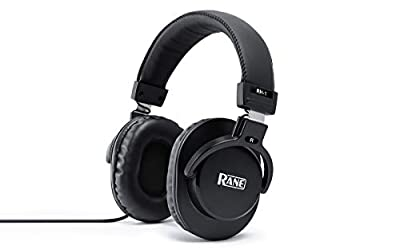 Rane RH-1 - Over Ear Wired Headphones for Mobile / Studio Recording, Streaming, Podcast Production and DJ Performance, with 1/4 Inch Adapter Included by inMusic Europe Limited