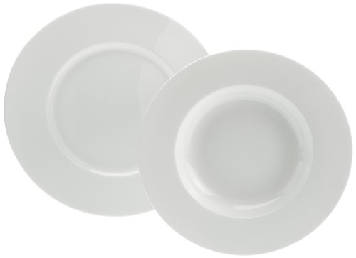 Rosenthal 61040-800001-18339 - Vajilla de Porcelana (12 Piezas), Color Blanco