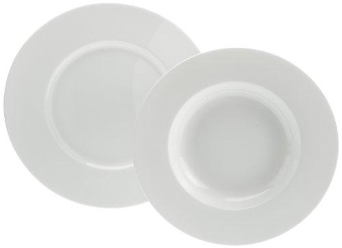 Rosenthal 61040-800001-18339 Jade weiß 12-teiliges Fine Bone China Tafelset