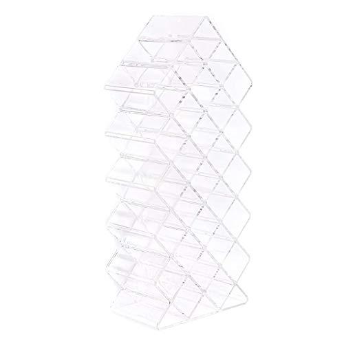 Caja de joyería con lápiz labial cosmético Cubierta 28 Caja de almacenamiento de lápiz labial de celosía Caja de maquillaje PS Ahorro de espacio Decoración del hogar Accesorio de gestión de almacenami