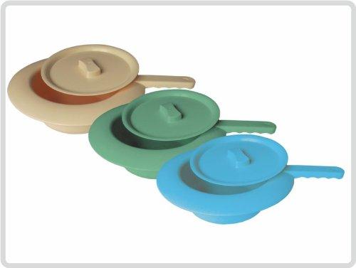 Stechbecken Bettpfanne Kunststoff mit Deckel, Farbe: blau *Top-Qualität zum Top-Preis*