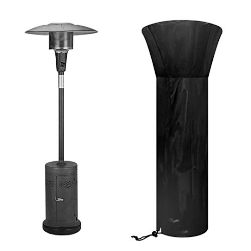 Patio Heater Cover Outdoor Heavy Duty Heater Cover 210D Oxford Fabric Waterproof Windproof UV Heater protection cover Black(226 X 85 X 48 CM)Suitable for A Variety of Indoor and Outdoor Heaters