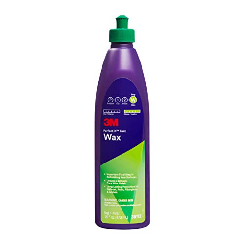 3M Perfect-It Boat Wax (36112) – For Boats and RVs – 1 Pint – 16 Fluid Ounces