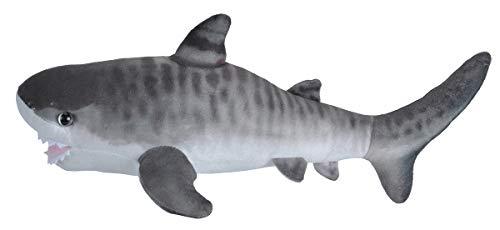 Wild Republic Living Ocean Mini Peluche tiburón Tigre, Juguete Relleno, 40 cm