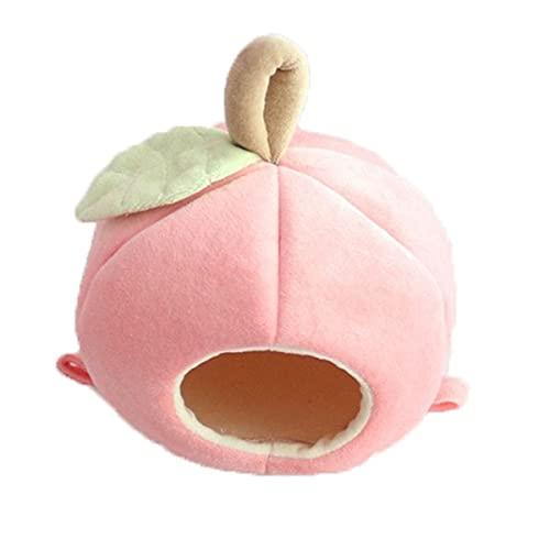 KALUO - Cincillà di animali domestici di piccola taglia per criceti, casetta a forma di frutta, scoiattolo, riccio, coniglio, cincillà, ratto (rosa)